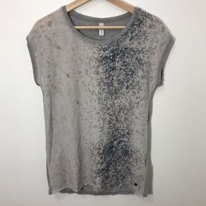 3/$25 Soyaconcept grey speckled tee shirt